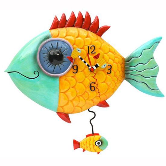Wide Eyed Fishy Clock by Allen Designs Studio