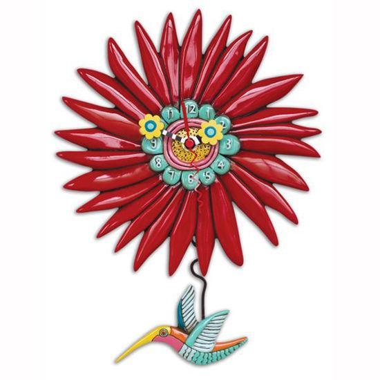 Humming Around Hummingbird Clock by Allen Designs Studio