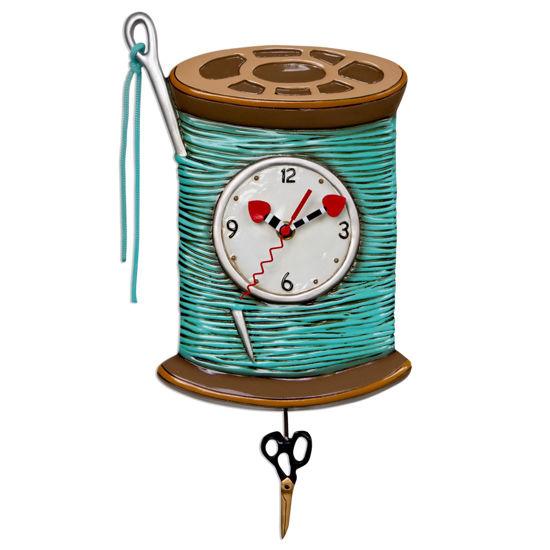 Needle & Thread Clock by Allen Designs Studio
