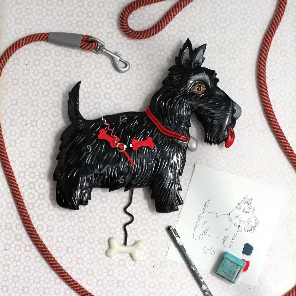 Scottie Dog Pendulum Clock by Allen Designs Studio