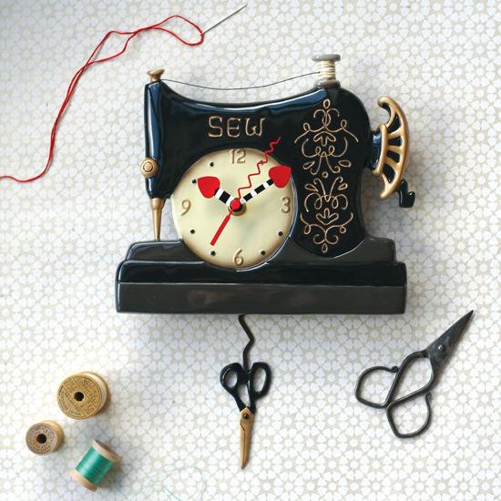 Vintage Stitch Pendulum Clock by Allen Designs Studio