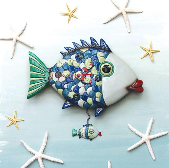 Fishy Lips Clock by Allen Designs Studio
