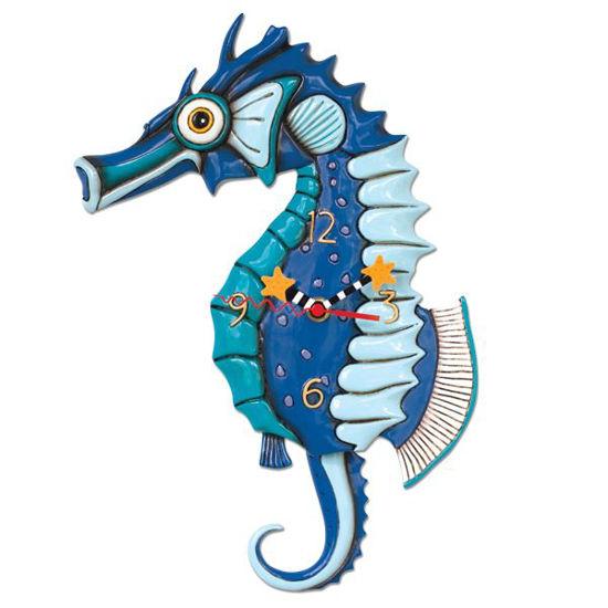 Salty Seahorse Clock by Allen Designs Studio