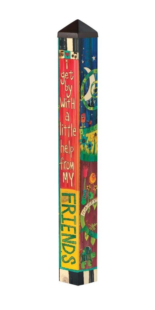 I Get By 3' Art Pole by Studio M