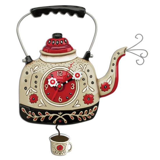 Kettle's On Pendulum Clock by Allen Designs Studio