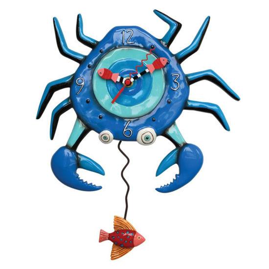 Blue Crab Pendulum Clock by Allen Designs Studio