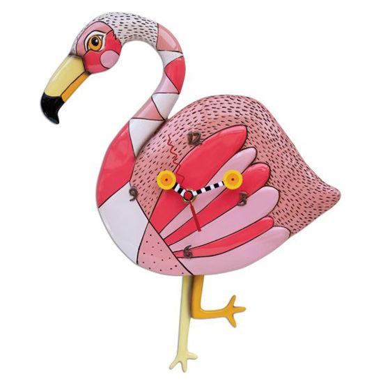 Crazy Legs Flamingo Clock by Allen Designs Studio