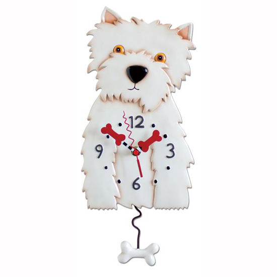 Westin Dog Pendulum Clock by Allen Designs Studio