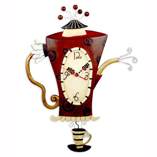 Steamin' Tea Coffeepot Clock by Allen Designs Studio