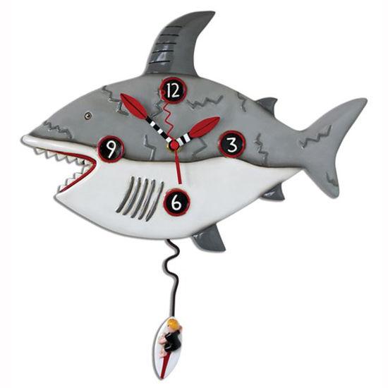 Surf Risk Shark Clock by Allen Designs Studio