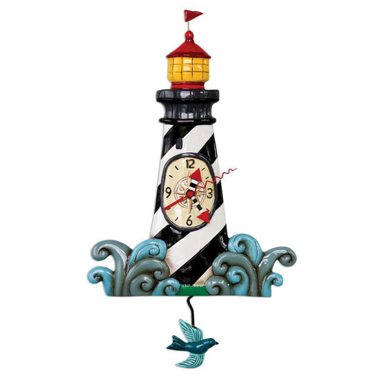 Augie's Lighthouse Pendulum Clock by Allen Designs Studio