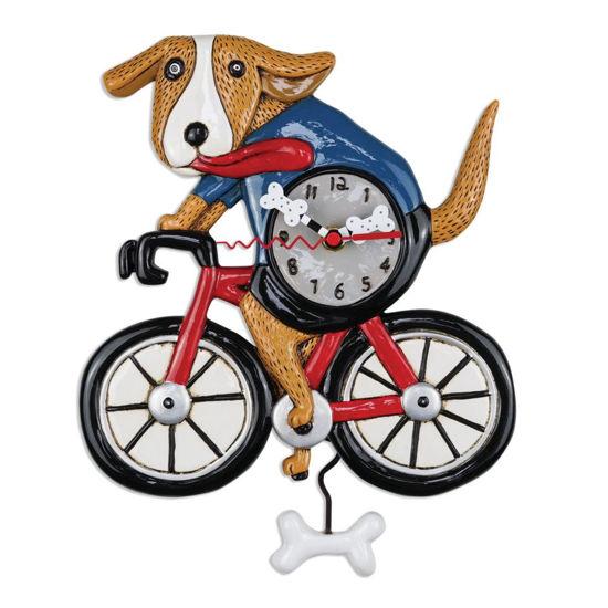 Bicycle Dog Pendulum Clock by Allen Designs Studio