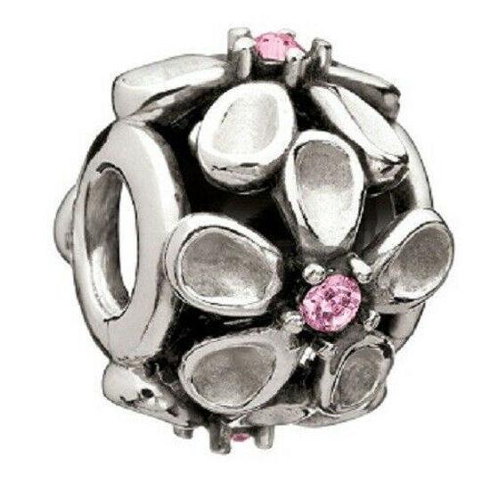 Silver Dazzling Daisy - Pink Swarovski by Chamilia