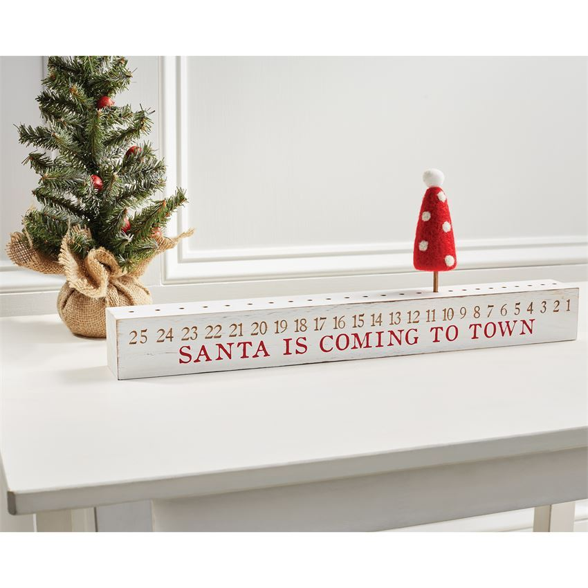 Christmas Countdown Block by Mudpie