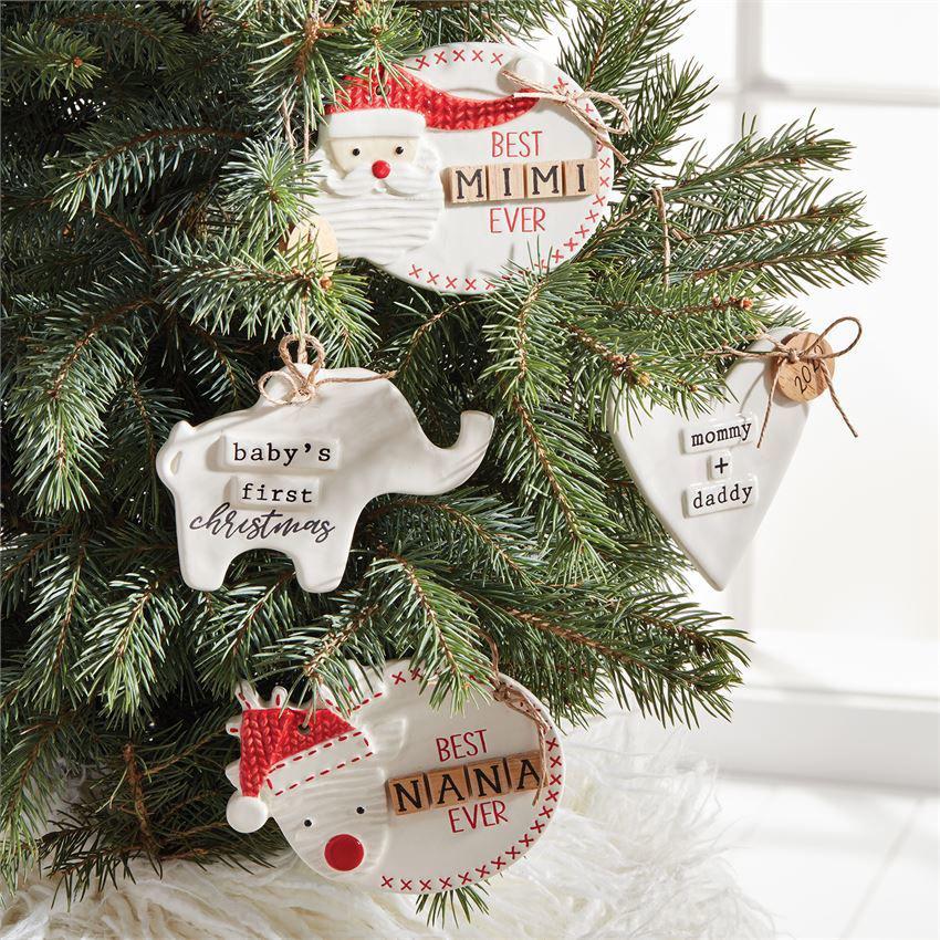 Elephant Baby Ornament 2020 by Mudpie