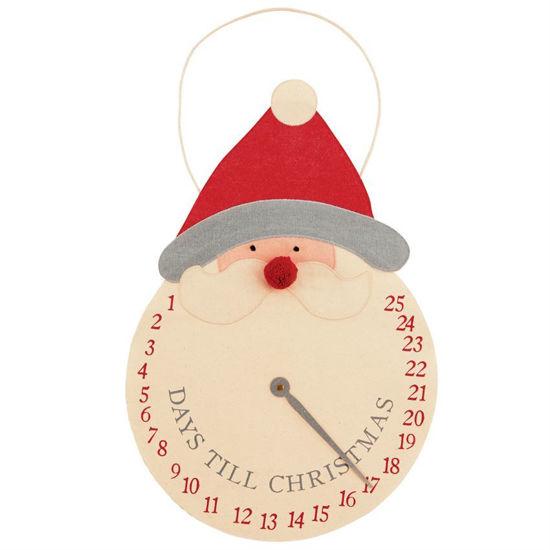 Countdown Santa Clock Hanger by Mudpie