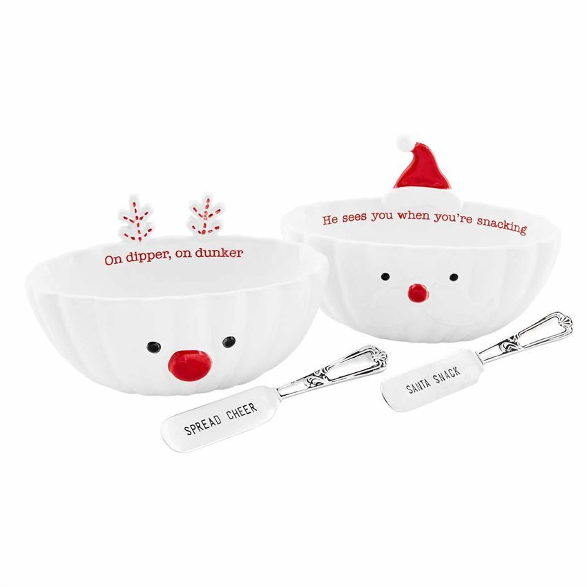 Christmas Dip Bowl Set (Assorted) by Mudpie