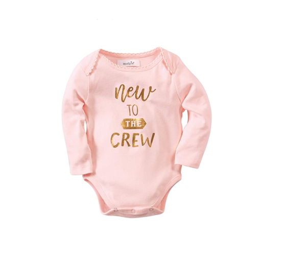 New to Crew Girl Crawler by Mudpie
