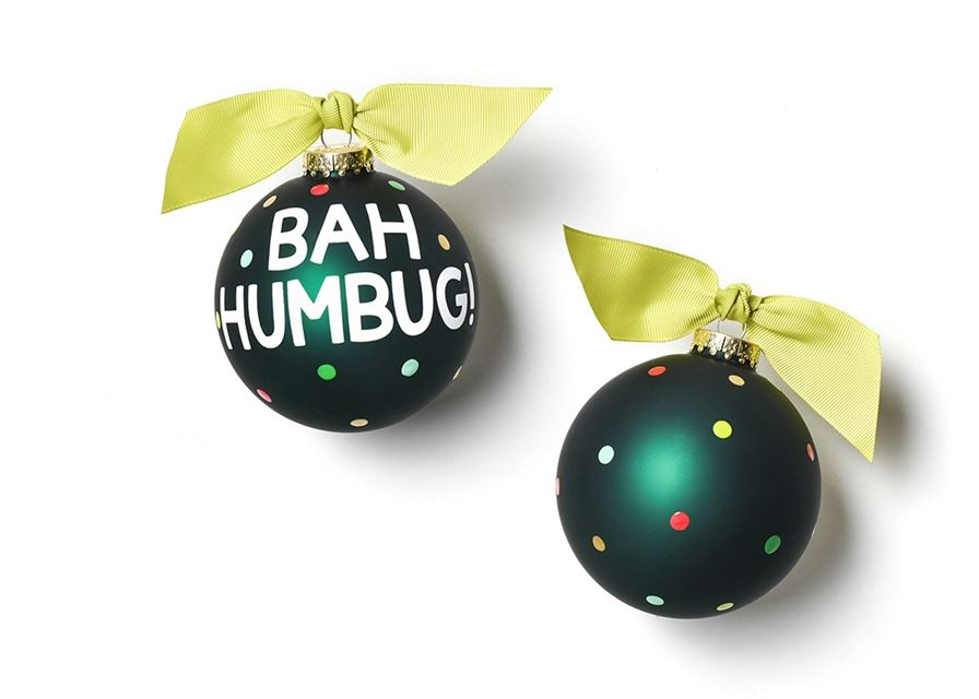 Bah Humbug Glass Ornament by Coton Colors