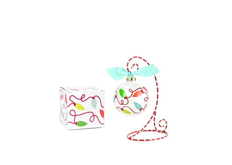 Twinkle Lights Glass Ornament by Coton Colors
