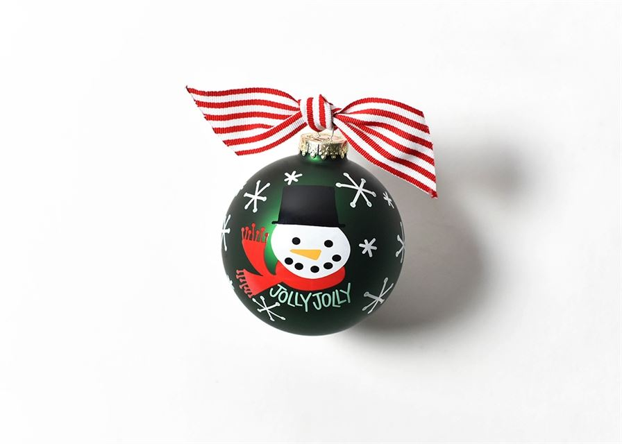 Jolly Jolly Snowman Glass Ornament by Coton Colors