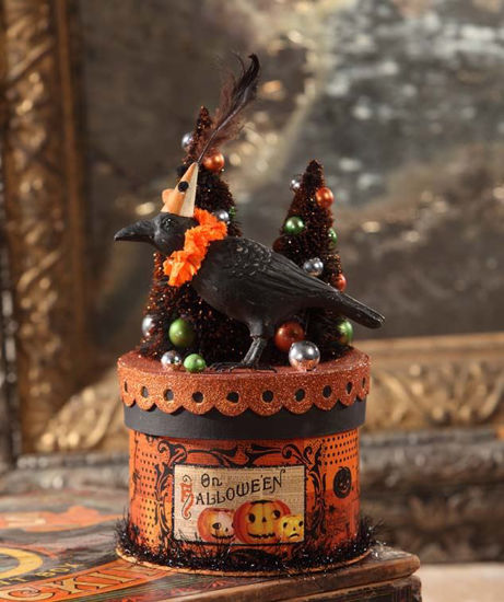 Party Crow on Box Container by Bethany Lowe Designs