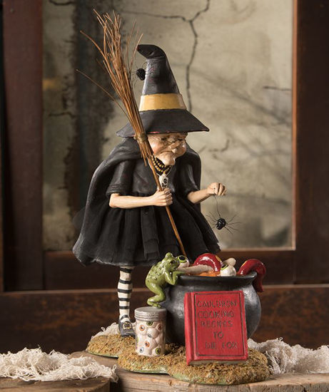 Cauldron Cooking Witch by Bethany Lowe Designs