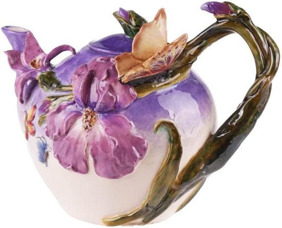 Purple Violet Butterfly Teapot by Blue Sky Clayworks