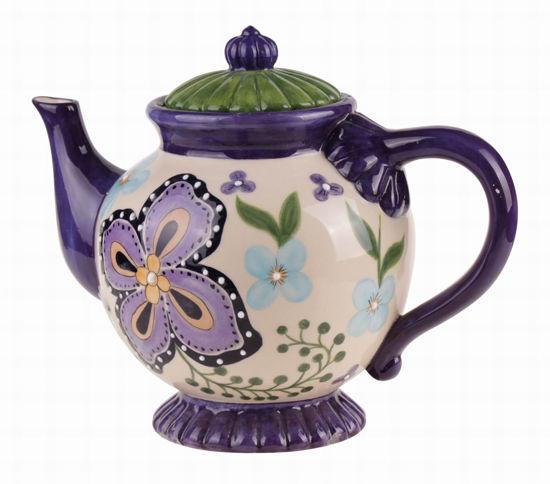 Bella Roca Purple Bloom Teapot by Blue Sky Clayworks