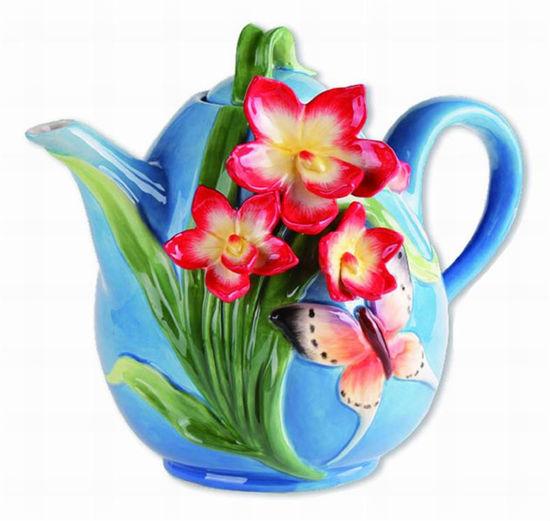 Dogwood Teapot by Blue Sky Clayworks