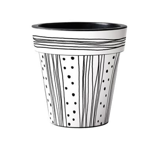 "Modern White 15"" Art Pot by Studio M"