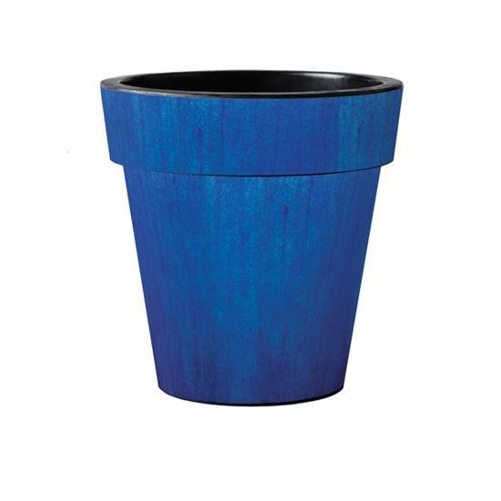"Blue Ceramic Glaze 15"" Art Planter by Studio M"