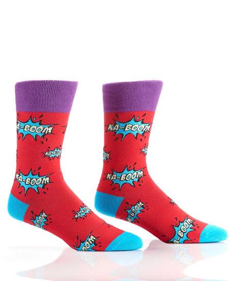 KaBoom Men's Crew Socks by Yo Sox