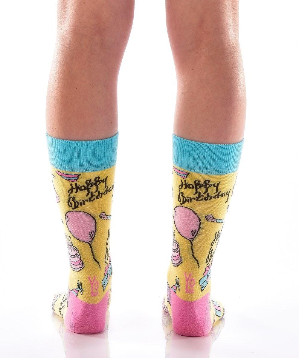 Happy Birthday Women's Crew Socks by Yo Sox