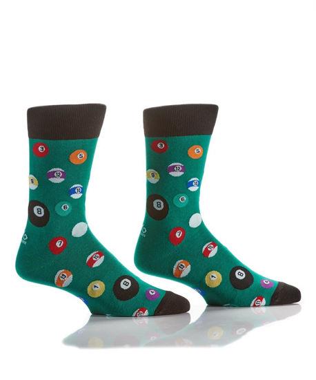 Billiards Men's Crew Socks by Yo Sox
