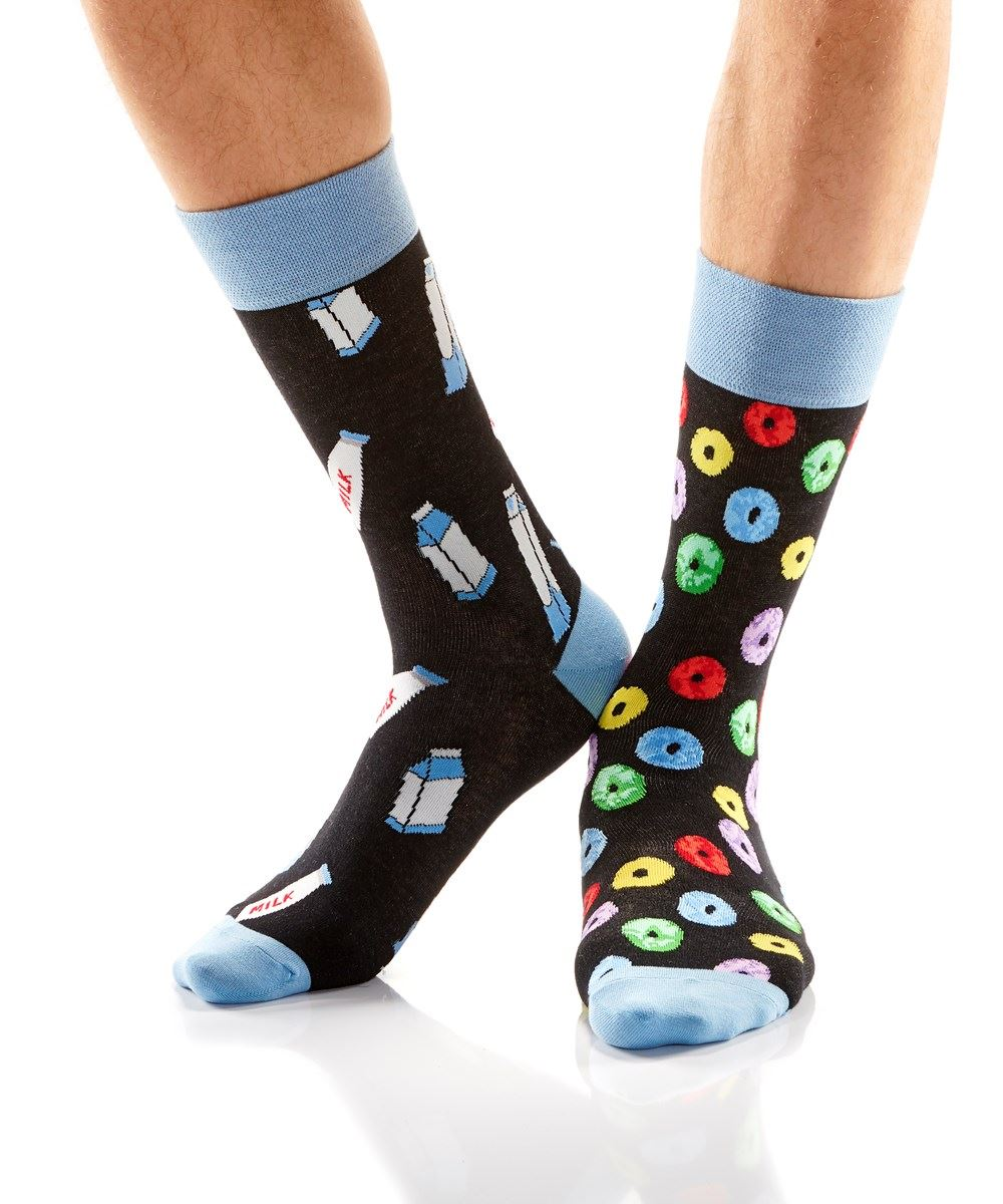 Milk & Cereal Men's Crew Socks by Yo Sox