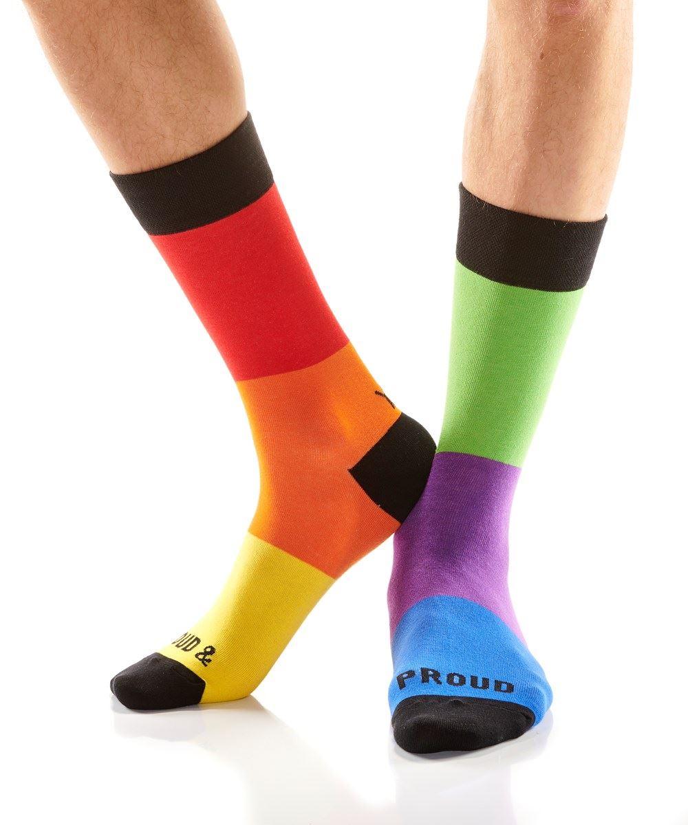 Loud & Proud Men's Crew Socks by Yo Sox