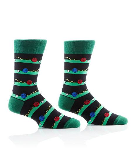 Bocce Ball Men's Crew Socks by Yo Sox