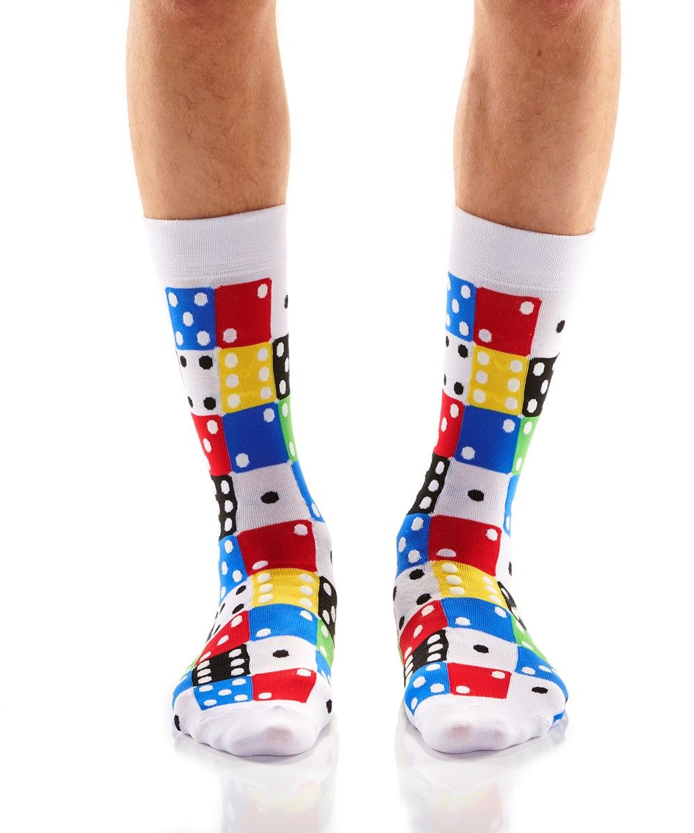 Roll'EM Men's Crew Socks by Yo Sox