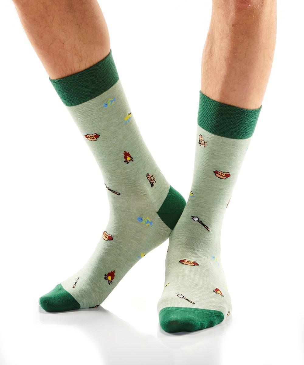 Cottage Day Men's Crew Socks by Yo Sox