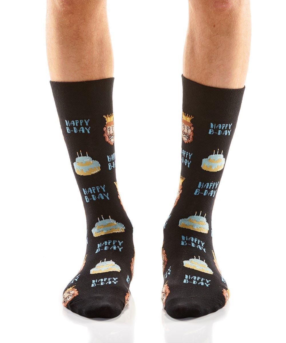 Birthday King Men's Crew Socks by Yo Sox