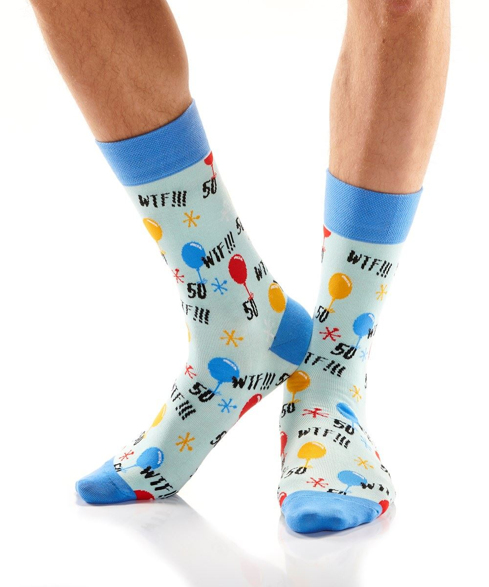 50th Birthday Men's Crew Socks by Yo Sox