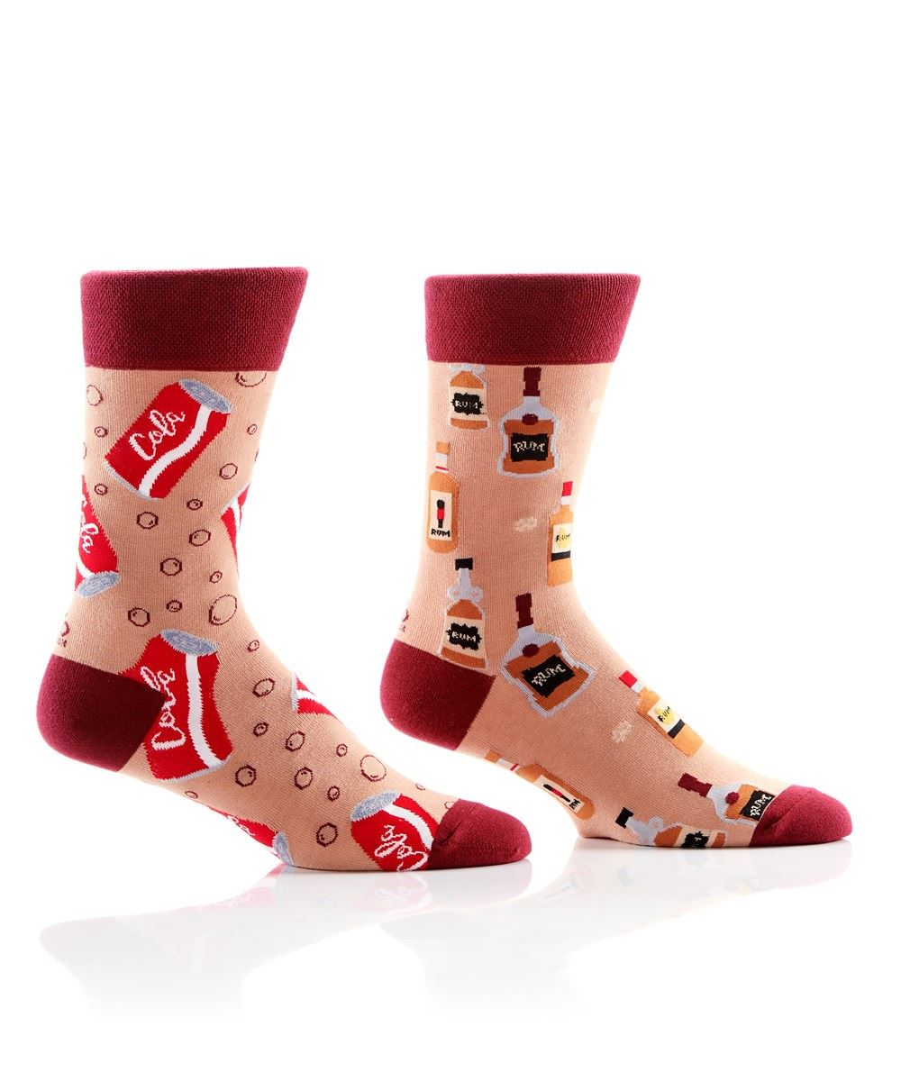Rum & Cola Men's Crew Socks by Yo Sox
