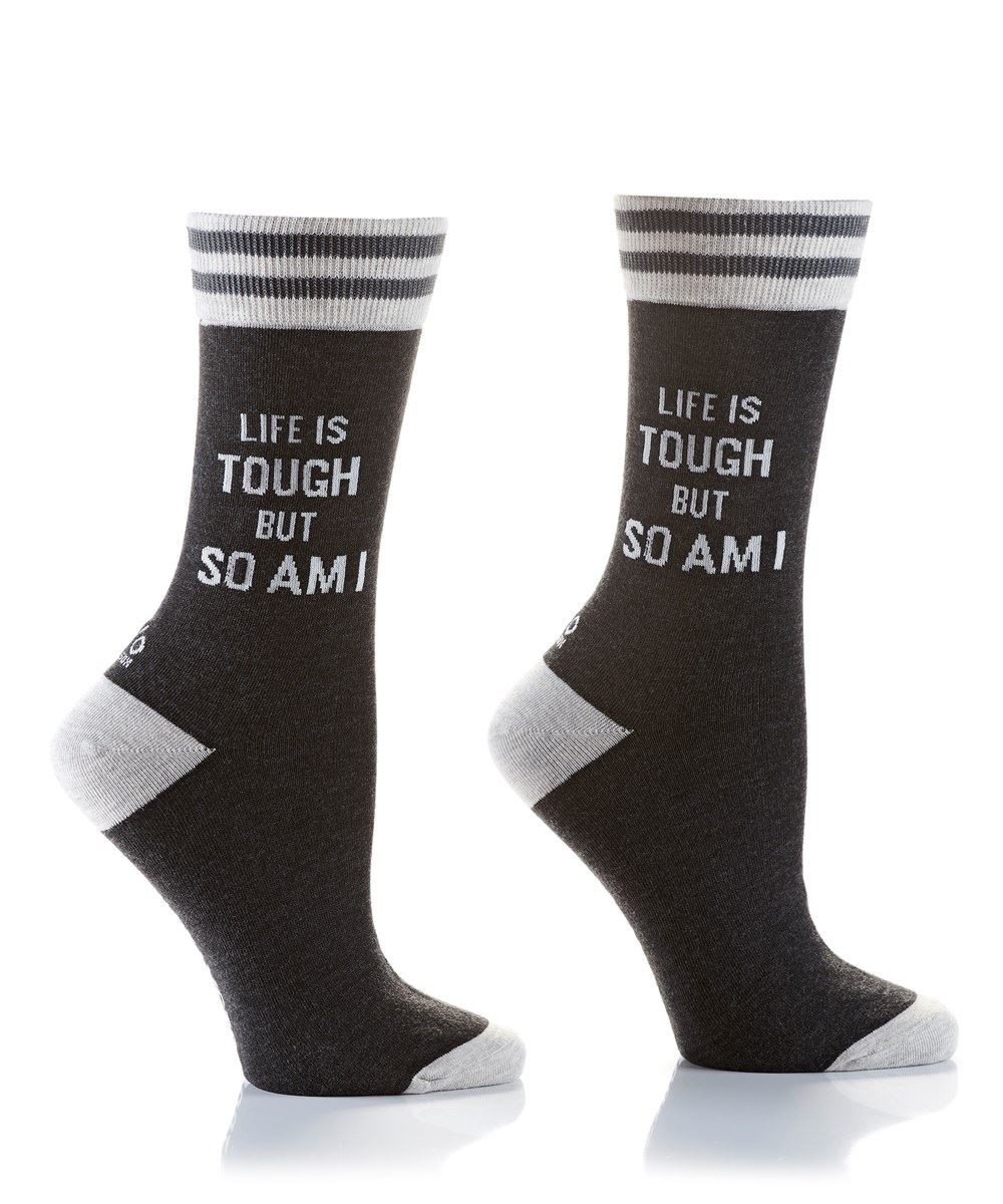 Life Is Tough Women's Crew Socks by Yo Sox