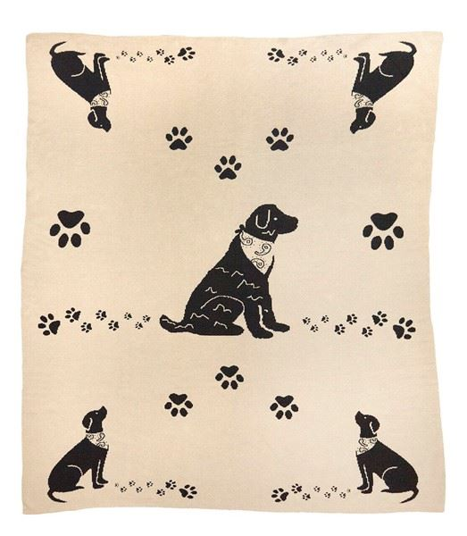 Paws Reversible Blanket by Chandler 4 Corners