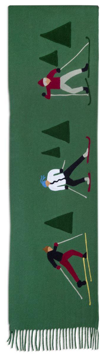 Cross Country Skier Wool Blanket by Chandler 4 Corners