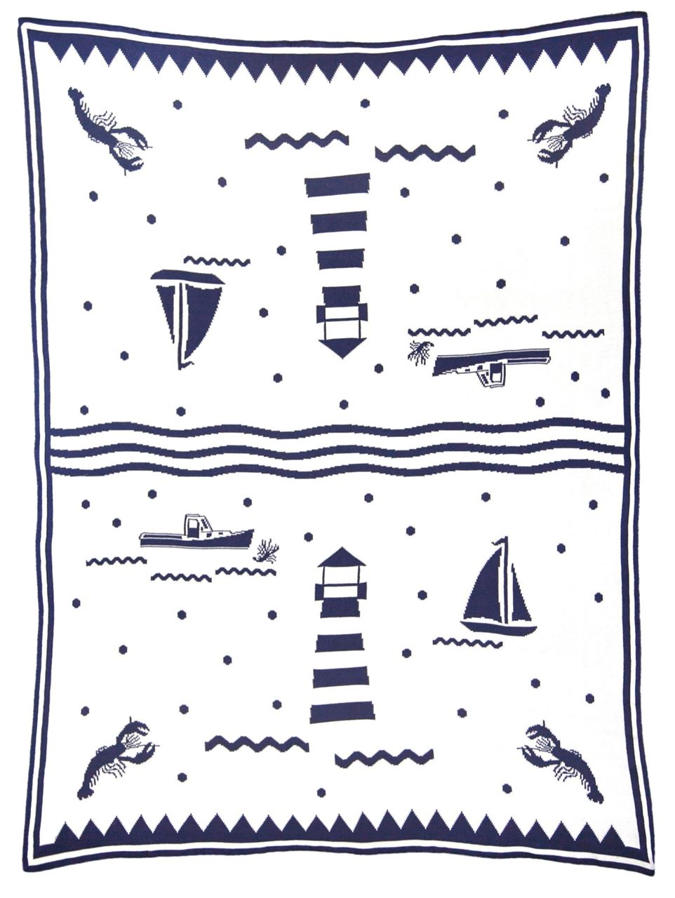 Lighthouse Reversible Blanket by Chandler 4 Corners