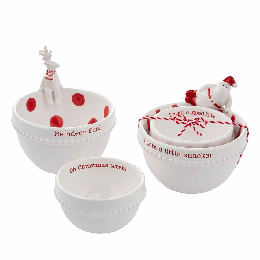 Christmas Nested Dip Bowl Sets by Mudpie