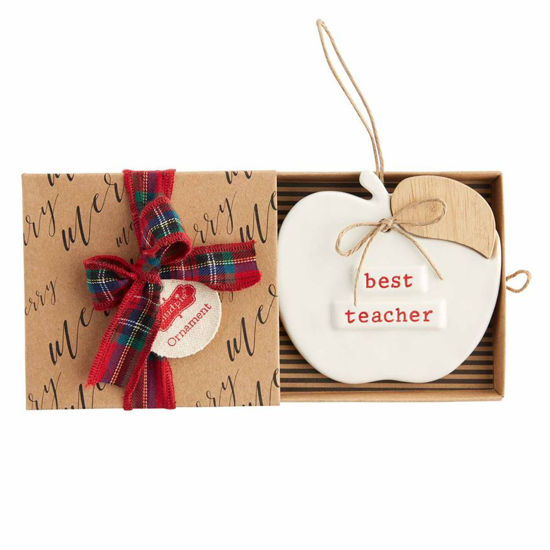 Best Teacher Ornament by Mudpie