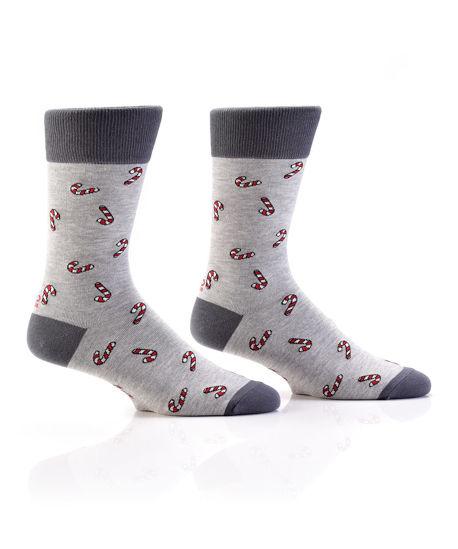 Mini Candy Cane Men's Crew Socks by Yo Sox